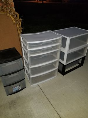 Plastic drawer organizers for Sale in Pearland, TX