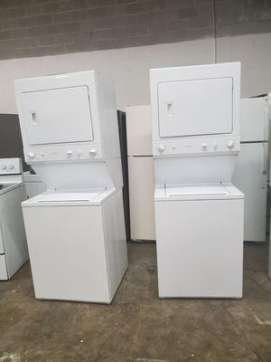 🔥🔥GE washer and electric dryer stackable 27 inches wide in excellent condition 90 days warranty 🔥🔥 for Sale in Hyattsville, MD