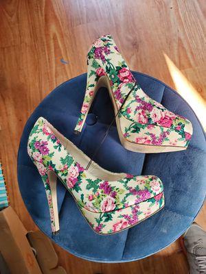 Floral platform heels size 8 never used for Sale in West Covina, CA