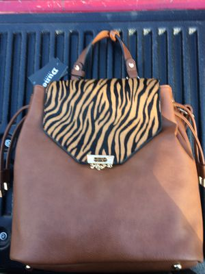 Dune tiger striped backpack/purse (black & tan also) for Sale in Redford Charter Township, MI