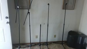 SHURE Black mic stands for Sale in Kansas City, MO