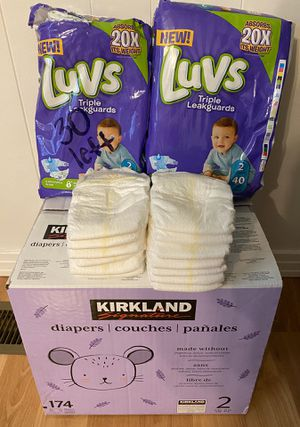 Size 2 diaper bundle for Sale in Columbia, TN