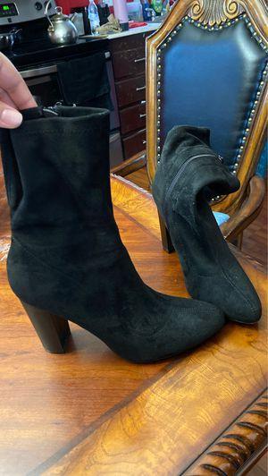 Black Suede High Heel Booties for Sale in Greensboro, NC