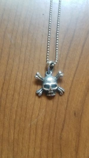 Sterling silver skull necklace for Sale in San Diego, CA
