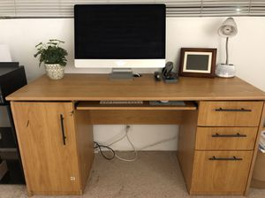 Wood Desk with Drawers for Sale in South Gate, CA