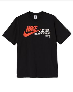 Stussy x Nike International Beach Crew T-shirt Black size M for Sale in Riverside, CA