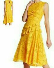 $3,800 NEW OSCAR DE LA RENTA STUNNING YELLOW FLORAL GUIPURE LACE DRESS GOWN US 8 for Sale in Laguna Beach, CA
