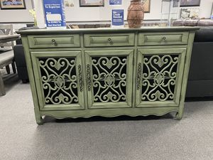 Antique Green Accent Cabinet for Sale in Fresno, CA