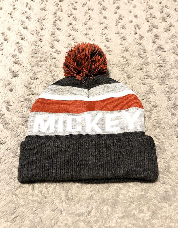 Mickey Mouse pom beanie paid $30 Like New! No signs of wear. Excellent condition! Official licensed merch