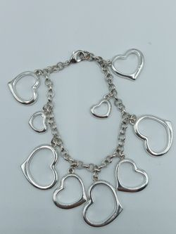 Silver Tone Hearts Bracelet for Sale in Barstow,  CA