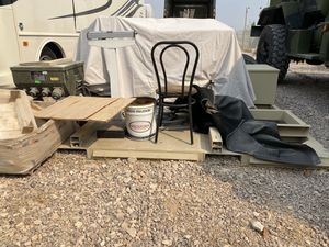 Aluminum flat rack with forklift shoots for Sale in Las Vegas, NV