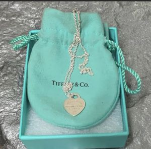 "Tiffany & Co authentic Rare & beautiful MED Return to Tiffany pendant w 15"" Peretti necklace comes with pouch/ like new ! Never wore necklace $165 for Sale in San Antonio, TX"