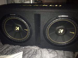 """2 12"""" Kicker comp c in ported box for Sale in Norfolk, VA"""