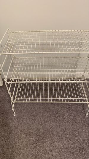 Wire storage shelving unit 3 tiers for Sale in Fort Lauderdale, FL