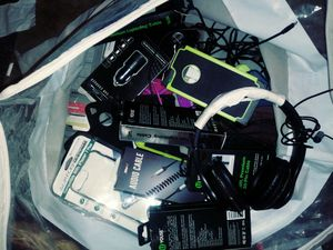 Phone cases audio cables lightning cables Android charger cables 2.4 amp car chargers phone cases Etc for Sale in St. Louis, MO