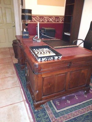 Partners desk cherry wood for Sale in Pompano Beach, FL