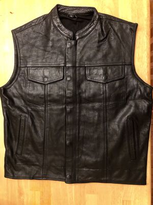 Motorcycle vest leather in all sizes available for Sale in Woodbridge, VA