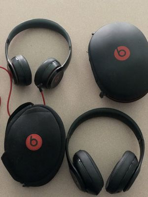 Two beats by Dre headphones studio and solo for Sale in Tampa, FL