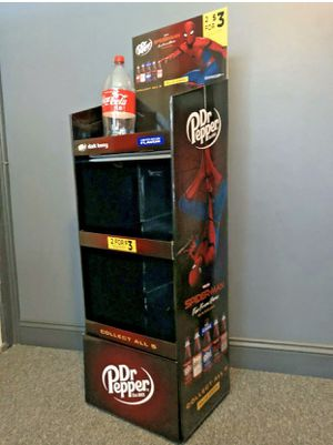 Spiderman Dr Pepper promotional display shelves for Sale in Georgetown, DE