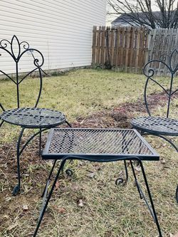Outdoor Patio Set 3 Pc Table And 2 Chairs ,metal for Sale in Plainfield,  IN