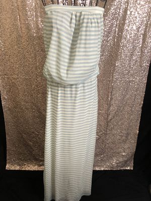 Strapless baby blue and white maxi dress for Sale in Richmond, CA