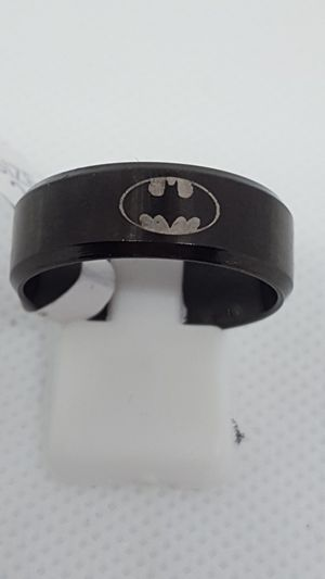 Brand new. Batman rings. Sizes 10, 11 available. Solid stainless steel. Hypoallergenic. NO Green fingers ever. for Sale in St. Louis, MO