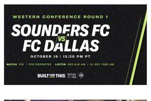 Seattle VS FC Dallas 10/19/2019 for Sale in SeaTac, WA