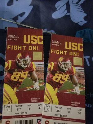 USC VS ARIZONA @ LA Coliseum for Sale in Santa Fe Springs, CA