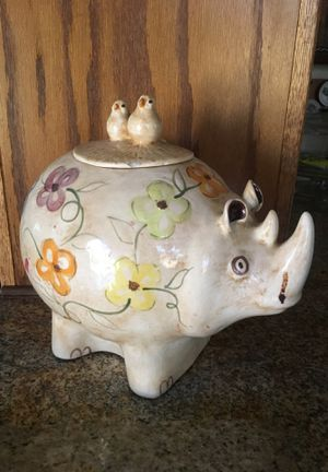 Rhino cookie or storage jar for kitchen for Sale in Oakland, CA