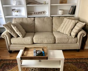 Comfy Beige Couch for Sale in Arlington, VA