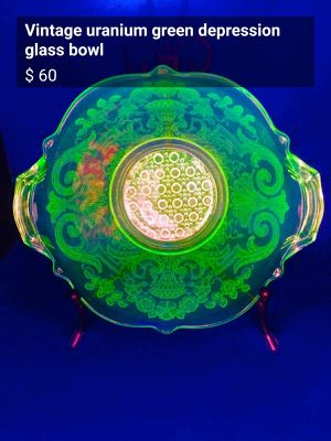 Uranium glass antique bowl for Sale in FAIR OAKS, TX