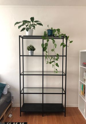 Black Glass Shelf Unit for Sale in Los Angeles, CA