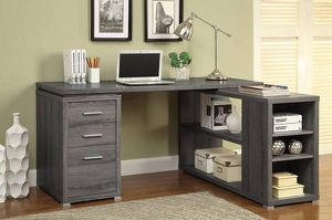 L-Shaped Desk with Articulating Return Grey Wood Finish ONLY $299- SALE! for Sale in Sacramento, CA