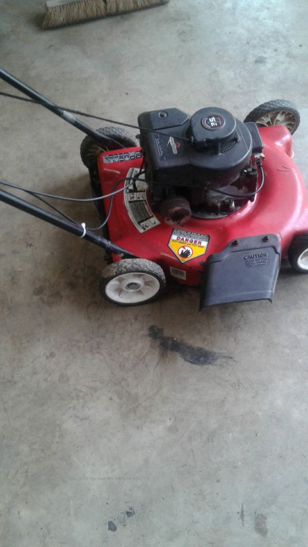 M t d push mower