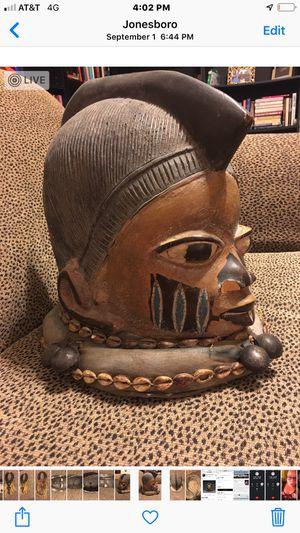 Yoruba Gelede ceremonial helmet for Sale in Tucker, GA