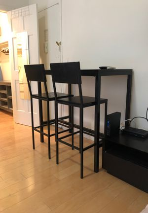 High table/ creat and barrel and 2 chairs for Sale in New York, NY