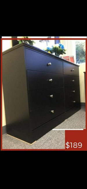 Nice minimalist Dresser 8 Drawer/ Cajoneras Compressed Wood for Sale in Los Angeles, CA