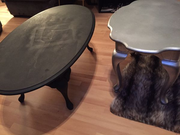 Hand Carved Solid Wood Coffee & End Table W/ Elephant Trunk Legs