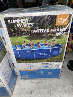 Summer waves Quick set pool 15ft x 33in for Sale in South Brunswick Township, NJ