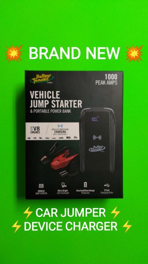 BRAND NEW VEHICLE JUMPER & DEVICE CHARGER /💥PRICE IS FIRM💥/ SAVE $60 / Ships for only $3.29/ for Sale in Phoenix, AZ
