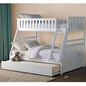 Twin overfull bunk bed with trundle for Sale in Glendale, AZ
