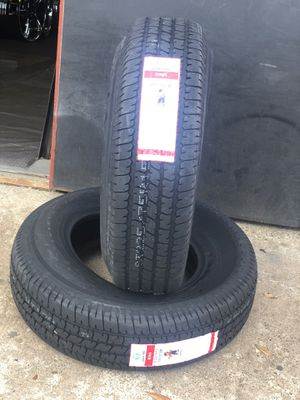 ST225/75/15 new tires 10PLY Leao Lion for trailer set of 4 or sale by piece for Sale in Dallas, TX