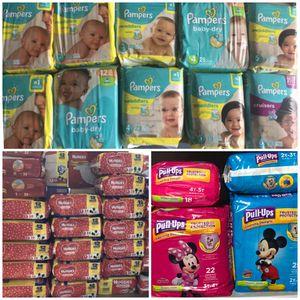 Pamper pack, pull ups or Huggies packs for Sale in Lehigh Acres, FL