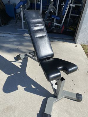 Nautilus workout bench with preacher for Sale in Fort Lauderdale, FL