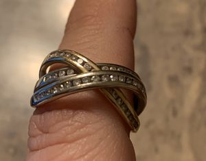 14 karat gold, diamond white and yellow gold anniversary band ring for Sale in Toms River, NJ