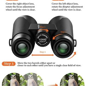 Binoculars for Adults - 10x42 Powerful Binoculars with Clear Low Light Night Vision - Compact Binoculars for Bird Watching Hunting Sports Concerts wit for Sale in San Francisco, CA