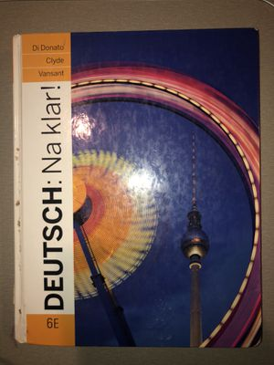 Deutsch: Na Klar! 6th Edition German Hardcover Textbook for Sale in Murrieta, CA