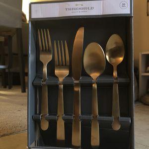 Threshold Gold Flatware Set for Sale in Virginia Beach, VA