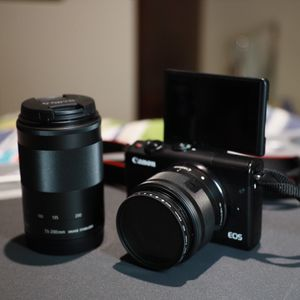Canon EOS M100 with 2 Lens for Sale in Huntington Beach, CA