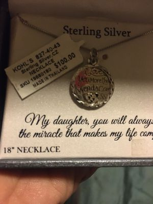 Timeless sterling silver daughter necklace for Sale in Copperton, UT